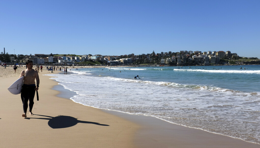 Verdens strender sliter på grunn av klimaendringene. Strender i Australia og lavtliggende øynasjoner er særlig i faresonen. Her fra den populære surfestranden Bondi Beach i Sydney. Foto: Marianne Løvland / NTB scanpix