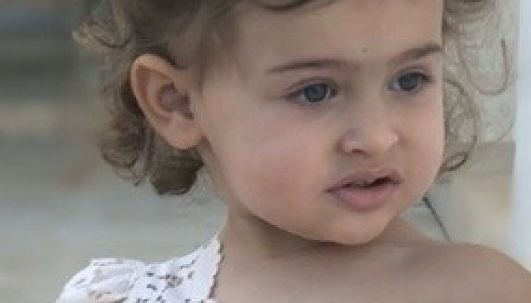 Ser du hvem denne søte prinsessen er datteren til?