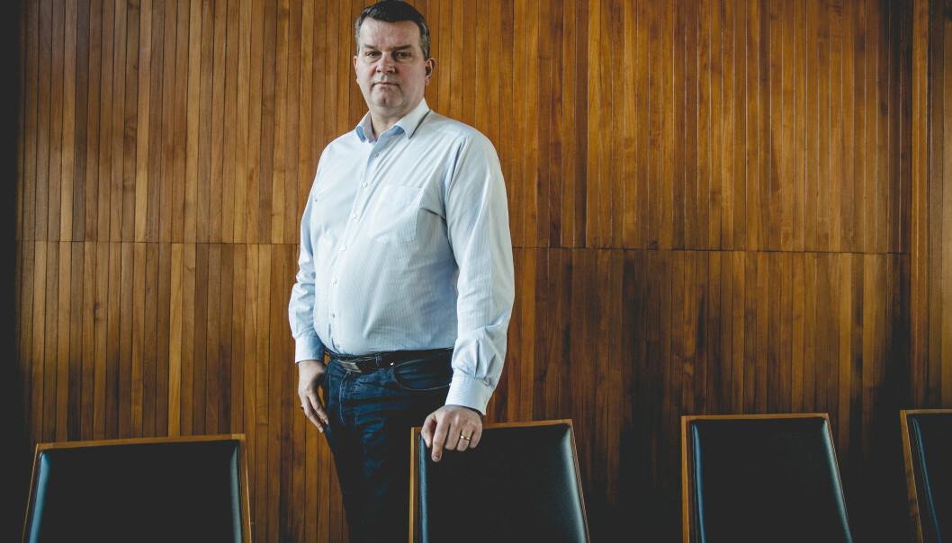 <strong>KREVER HANDLING:</strong> LO-leder Hans-Christian Gabrielsen vil ha tiltak på plass for arbeidslivet for å håndtere coronasmitten. Foto: Stian Lysberg Solum / NTB scanpix