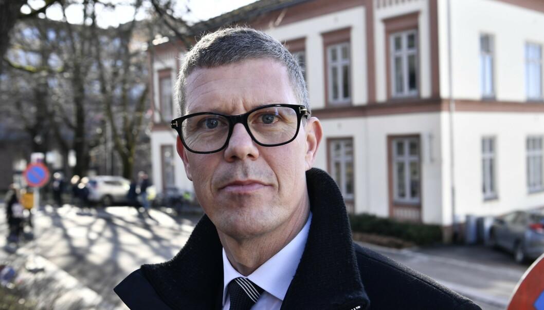 PÅ PLASS: Jan Fredrik Karlsen. Foto: Lars Eivind Bones / Dagbladet