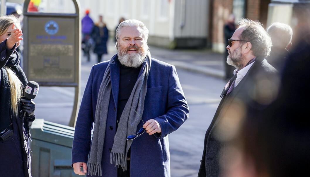 REIN ALEXANDER: Sangeren delte varme ord om Jahn Teigen før bisettelsen. Foto: Hans Arne Vedlog / Dagbladet