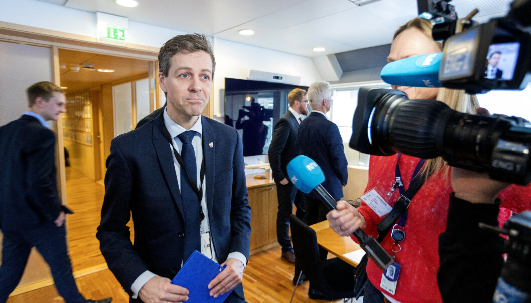 <strong>I KRISEMØTE:</strong> Samferdselsminister Knut Arild Hareide (KrF). Foto: Gorm Kallestad / NTB scanpix