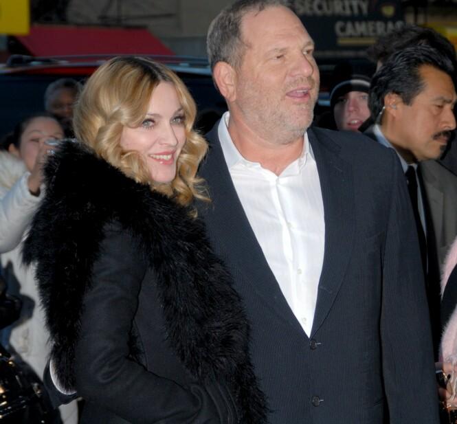 <strong>KRYSSET GRENSER:</strong> Madonna mener Harvey Weinstein har krysset mange grenser opp gjennom årene. Foto: NTB scanpix