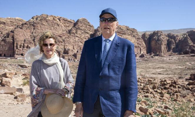 STATSBESØK: Kong Harald og dronning Sonja var nylig i Jordan. Foto: Andreas Fadum