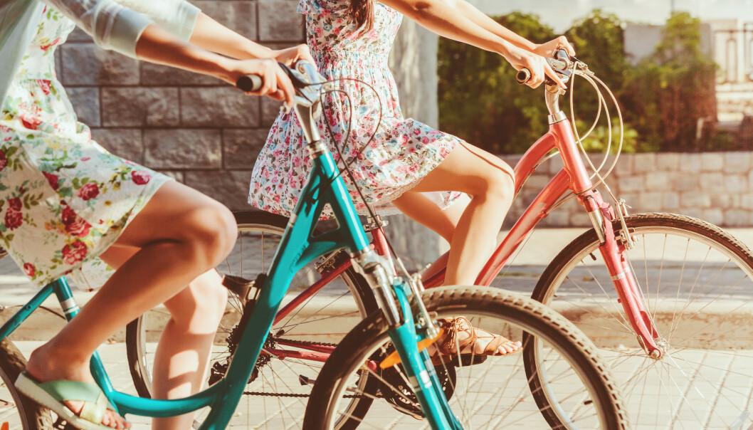 Sykkel og vår hører sammen. FOTO: NTB/Scanpix