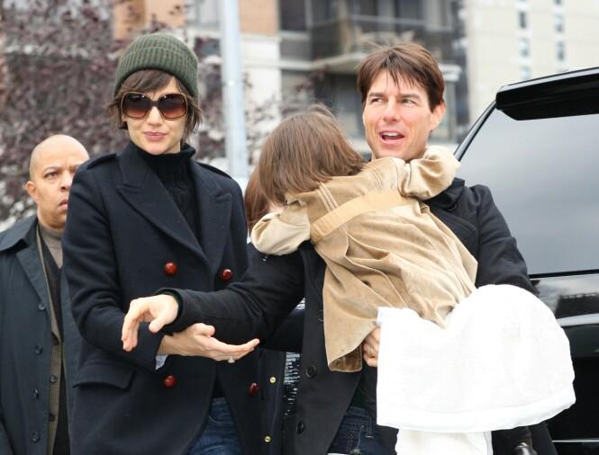 MYE OPPMERKSOMHET: Katie Holmes sier i intervjuet med InStyle fra april 2020, at det har vært perioder i livet hennes der hun har vært utsatt for mer oppmerksomhet enn ellers. Forholdet med skuespiller Tom Cruise var én av de periodene. Dette bildet er fra 2008. FOTO: NTB scanpix