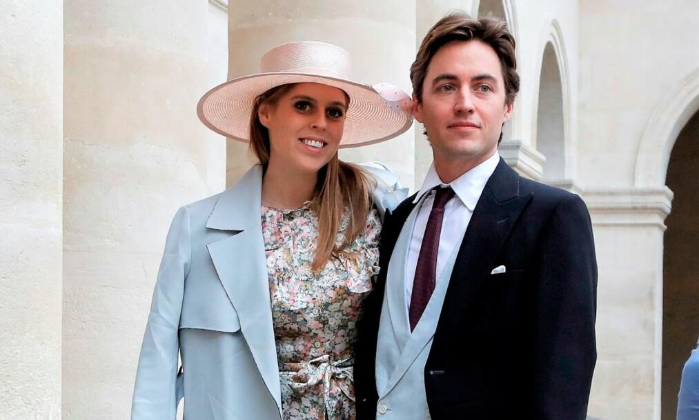 BRYLLUP: Det er duket for kongelig bryllup i Storbritannia, ettersom prinsesse Beatrice skal stå brud i slutten av mai. Nå står bryllupet med forloveden Edoardo Mapelli Mozzi i fare. Foto: NTB scanpix