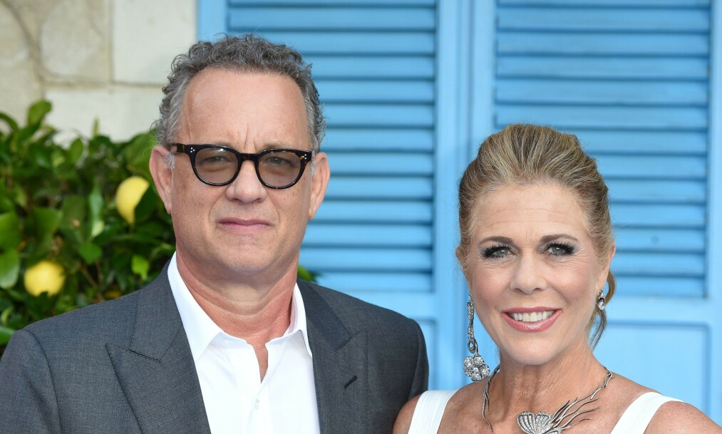 <strong>CORONASMITTET:</strong> Tom Hanks og kona, Rita Wilson, sitter i isolasjon på et sykehus i Queensland i Australia. Foto: NTB Scanpix