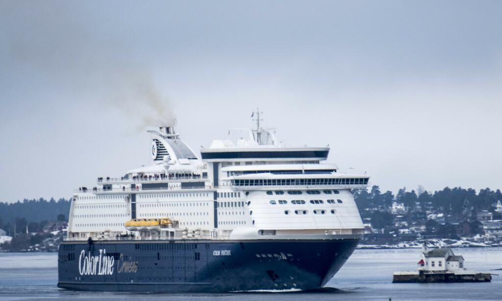 Kiel-fergen Color Fantasy avbildet på vei inn Oslofjorden på et tidligere tidspunkt. Foto: Paul Kleiven / NTB Scanpix