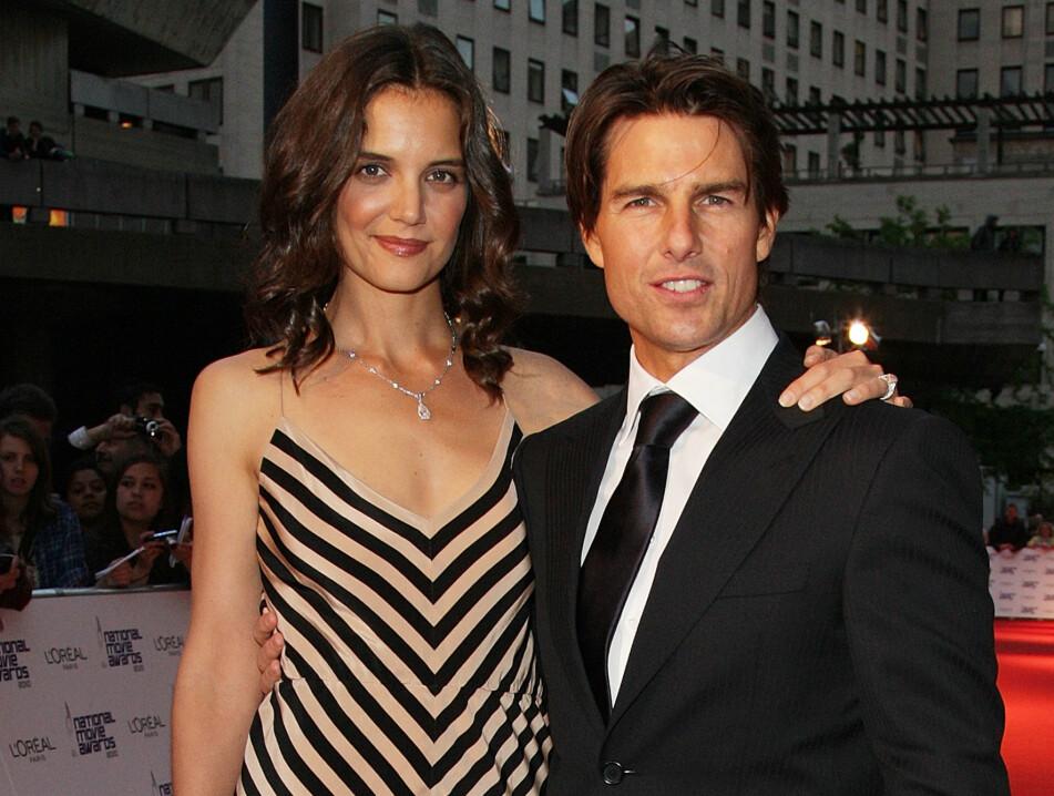 KATIE HOLMES: Skuespillerne Katie Holmes og Tom Cruise fotografert på rød løper under en filmtilstelning i mai 2010. To år senere var skilsmissen et faktum. FOTO: NTB scanpix