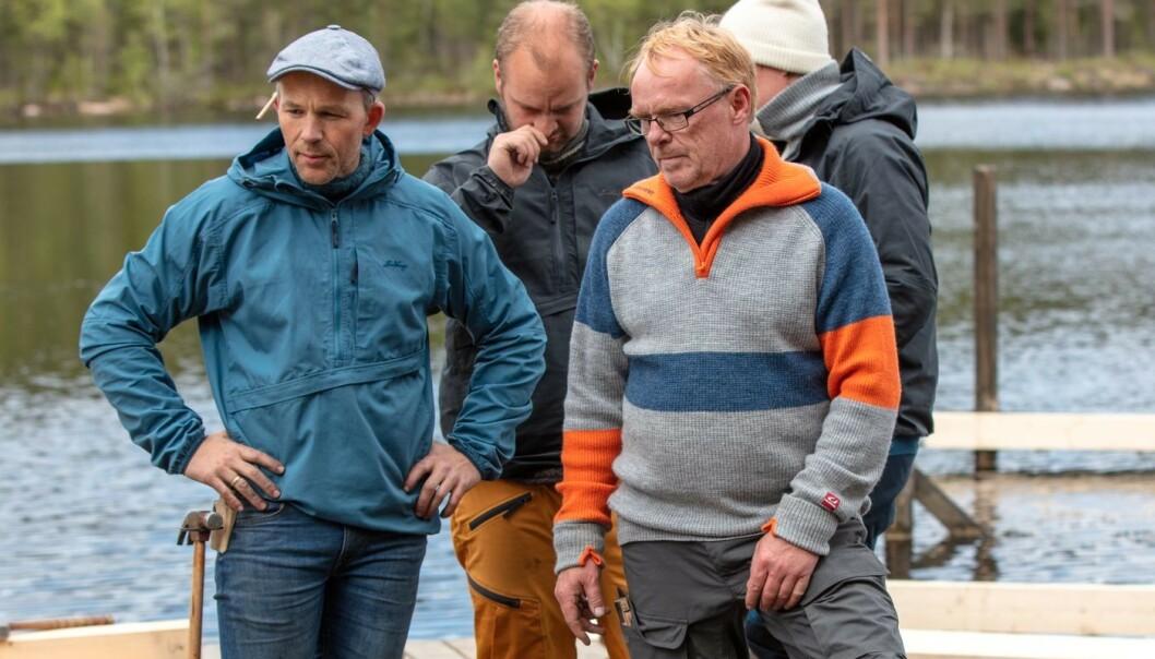OPPSTYR: Erik Alfred og ekspolitiker Per Sandberg har vært alt annet enn perlevenner inne på tv-gården. Foto: Nina Hansen / Dagbladet