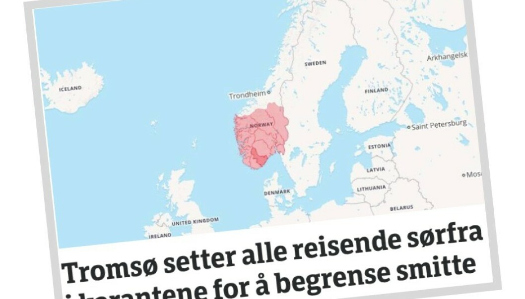 Faksimile NRK Troms og Finnmark.