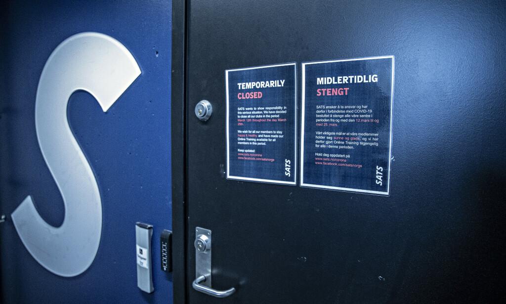 STENGT: Sats har stengt ned alle sine treningssentre i Norden på grunn av coronaviruset. Foto: Bjørn Langsem / Dagbladet