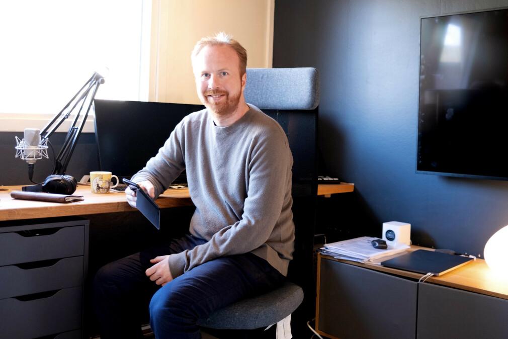 Seniorrådgiver Ole Kristian Losvik i Norsk Helsenett jobber fra hjemmekontor, som så mange andre. 📸: Privat