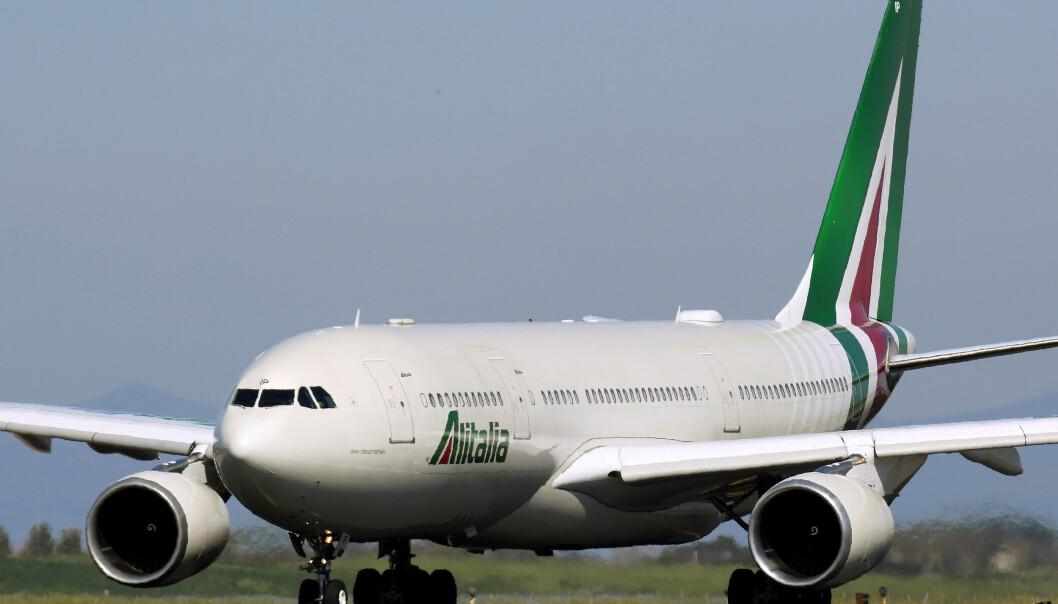 <strong>KAN BLI STATLIG:</strong> Flyselskapet Alitalia har slitt de siste åra. Nå kan staten komme til å ta over. Foto: Alberto Lingria / Reuters / NTB Scanpix