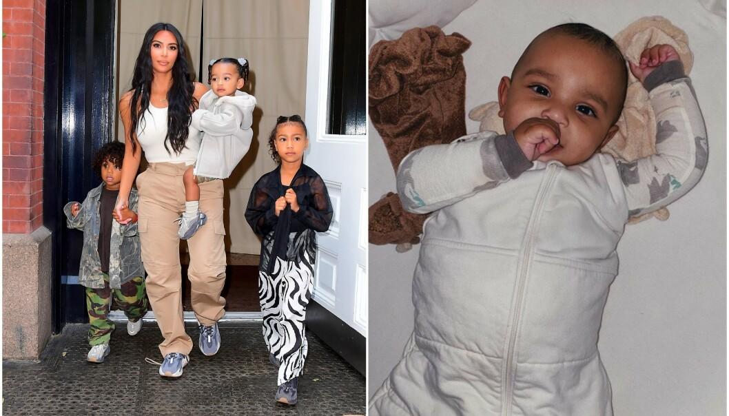 ULIK: Fansen mener Psalm West, den yngste sønnen til Kim Kardashian, er skremmende lik hennes avdøde far Robert Kardashian. Foto: NTB scanpix/ Instagram
