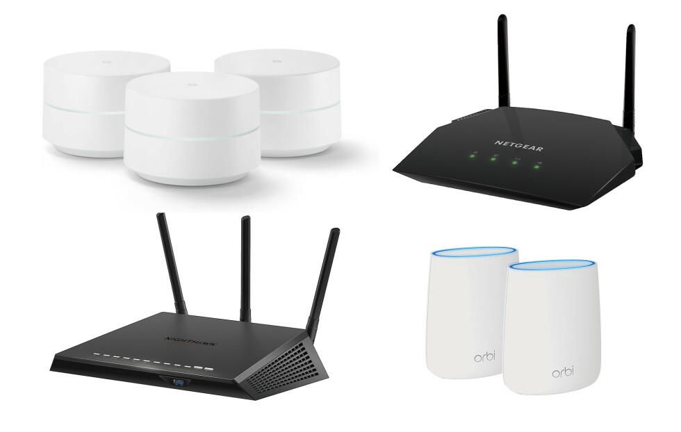 MODERNE RUTERE: Dersom du har et sterkt ønske om bra wifi i hjemmet, er en kraftig AC-ruter eller et lekkert mesh-nettverk å anbefale.