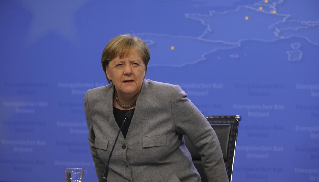 EUs medlemsland er enige om å innføre 30 dagers innreiseforbud., opplyser Tysklands statsminister Angela Merkel. Foto: AP / NTB scanpix