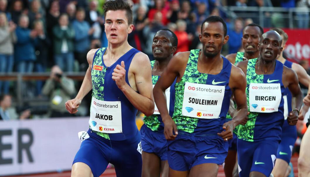 <strong>KJEMPER MOT SUSPEKTE TIDER:</strong> Etter å ha satt Europarekord på 1500 meter, er det bare to ærlige løpere som har vært raskere enn Jakob Ingebrigtsen på distansen fra 2005; året da det ble mulig for friidretten å etterprøve de enkelte resultatene.