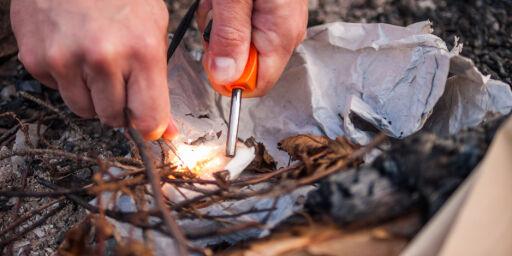 image: Brannvesenet advarer mot å tenne bål
