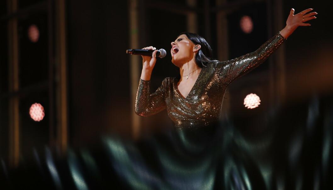 AVLYST: I år var det 24 år gamle Ulrikke Brandstorp som trakk det lengste strået i årets MGP-finale - etter et hysteri av stemmeproblemer. Nå er Eurovision avlyst på grunn av koronaviruset. FOTO: NTB Scanpix