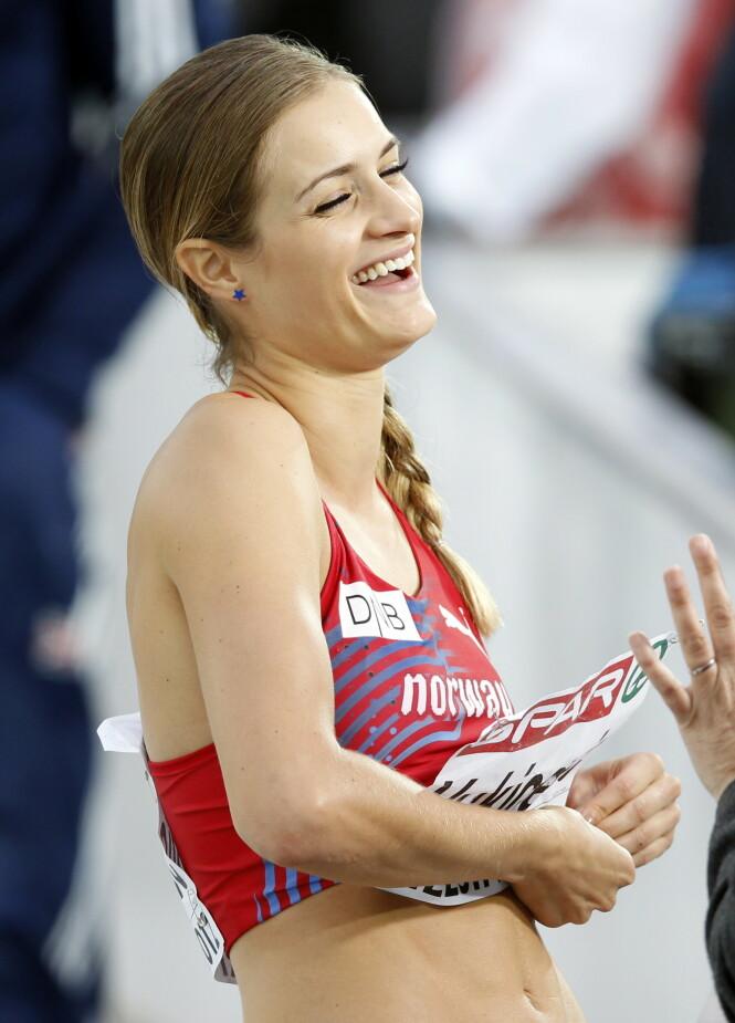 <strong>SYV NM-GULL:</strong> Her er Christina Vukicevic Demidov avbildet under EM i friidrett i Helsingfors i 2012. Foto: NTB Scanpix
