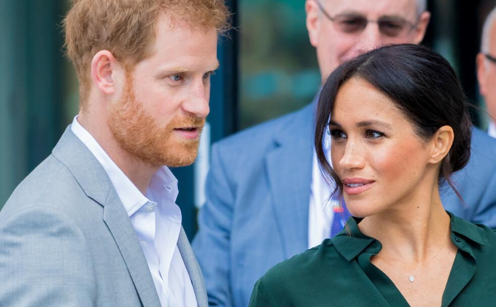 KONGELIG: Meghan og Harry har delt støttende ord med folket i den vanskelige tiden - det har også mange andre kongelige gjort. FOTO: NTB scanpix