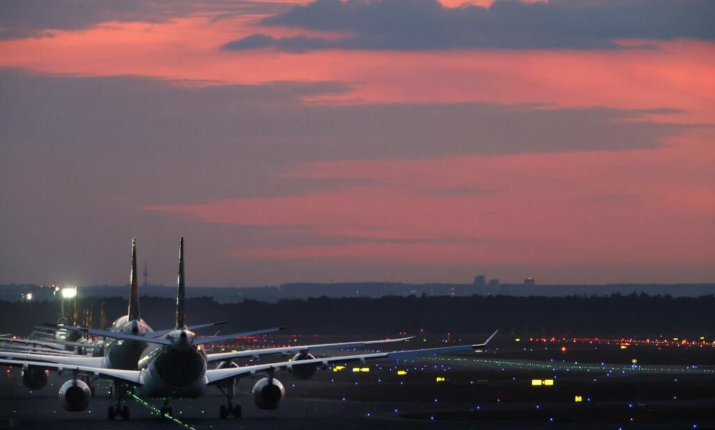 <strong>FULL STANS:</strong> Lufthansa setter over 90 prosent av flyene på bakken. Foto: Kai Pfaffenbach / Reuters / NTB Scanpix