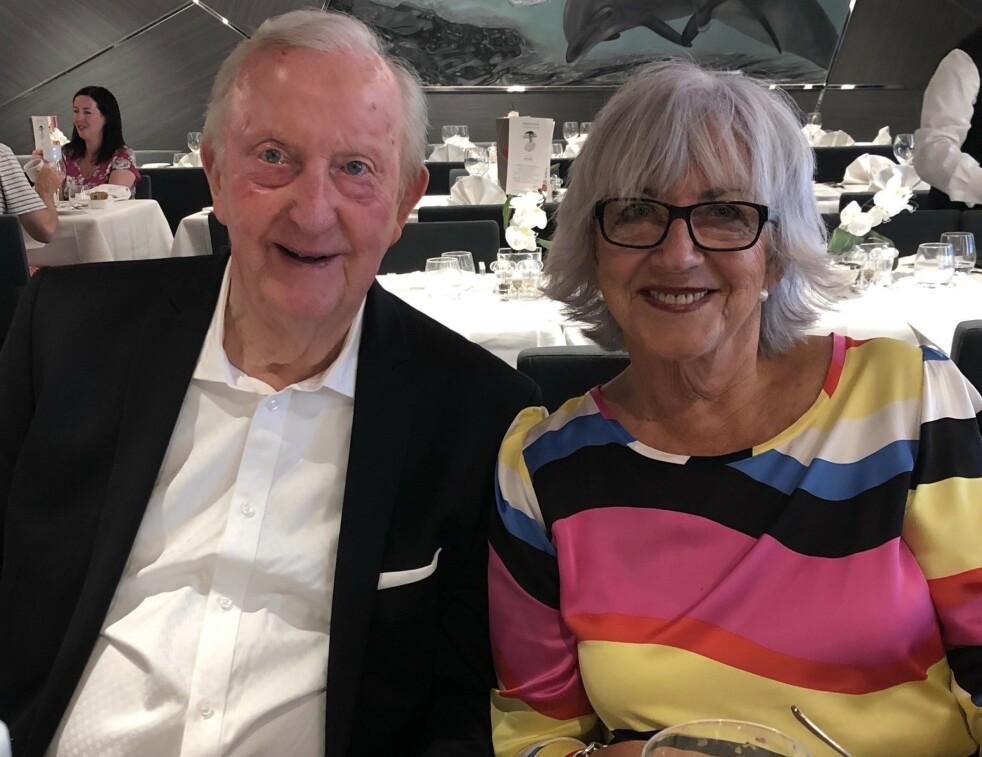 NY KJÆRLIGHET: Elsa Volkmer og Alf Kirksæther fant hverandre ved en tilfeldighet. Deres erfaring er at det er mulig å forelske seg hele livet. Foto: Privat
