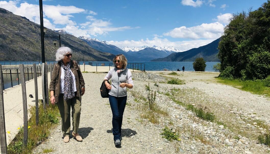 VAKKER NATUR: Elsa (81) har forelsket seg i den Argentinske byen Bariloche og naturen i området. Foto: Privat
