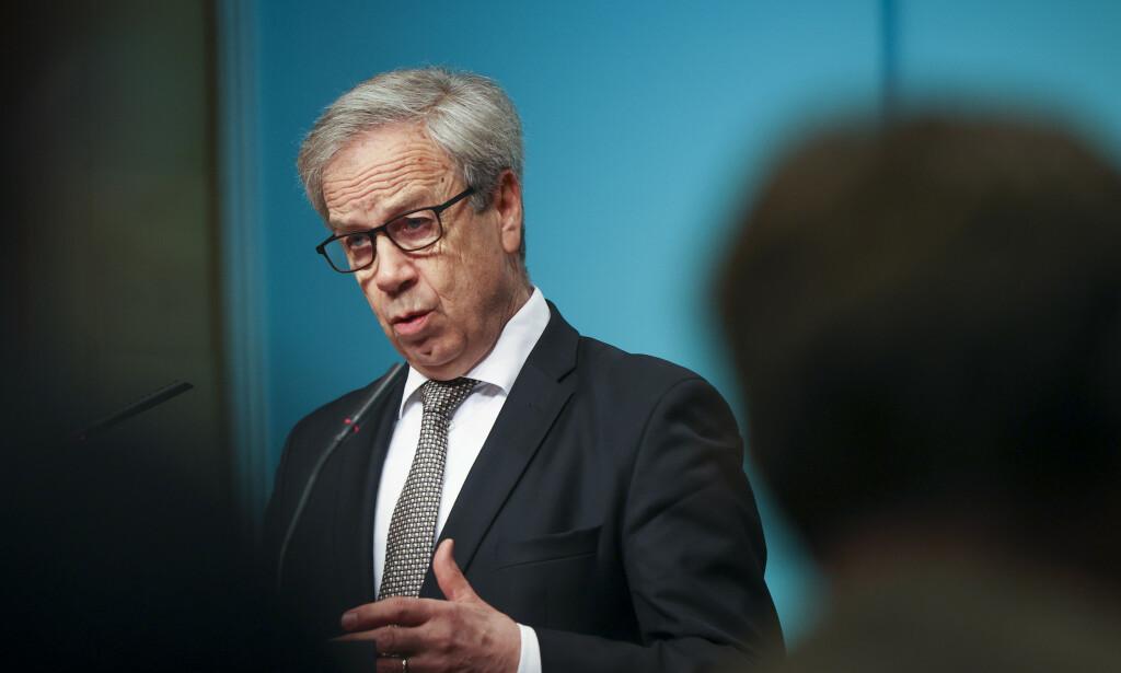 KREVER SVAR: Sentralbanksjef Øystein Olsen må svare på ti spørsmål fra Norges Banks representantskap. Foto: Ørn E. Borgen / NTB scanpix
