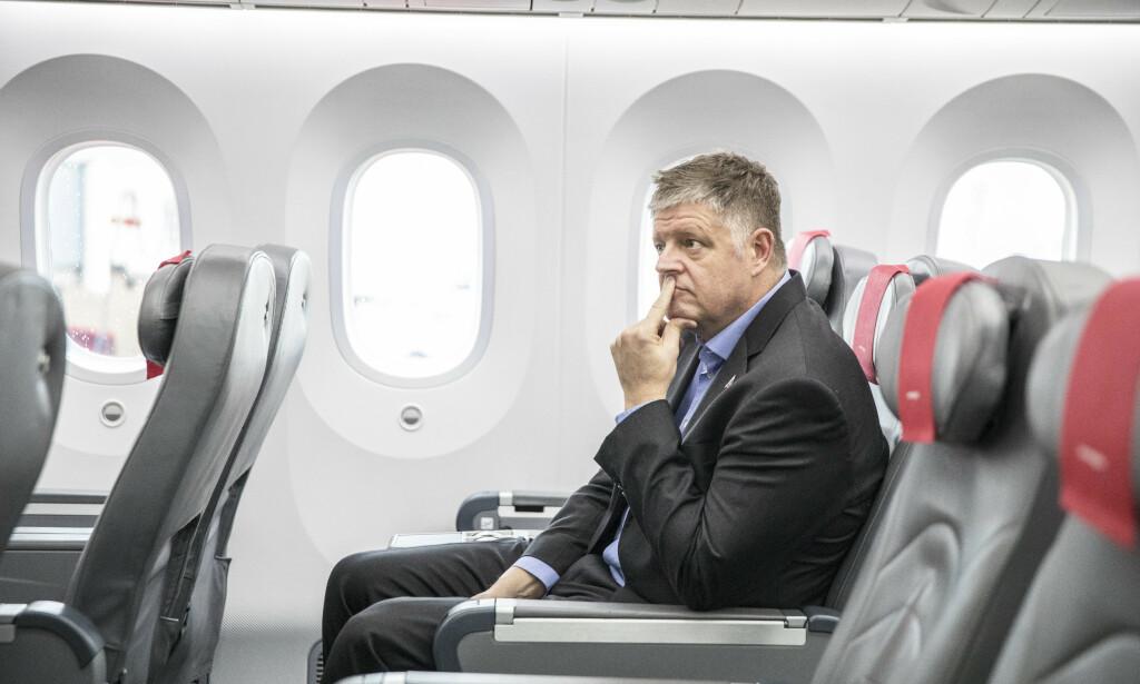 STUPER PÅ BØRSEN: Konsernsjef i flyselskapet Norwegian ASA, Jacob Schram, leder selskapet i en enormt vanskelig periode. Foto: Ole Berg-Rusten / NTB scanpix