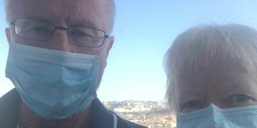 image: Tom og Anne-Grethe coronafast på cruiseskip til Italia