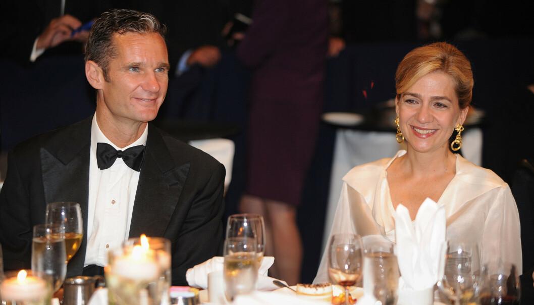 FLERE SIKTELSER: Prinsesse Cristina og ektemannen Iñaki Urdangarin har flere ganger blitt stilt for retten for økonomisk svindel. Foto: NTB scanpix