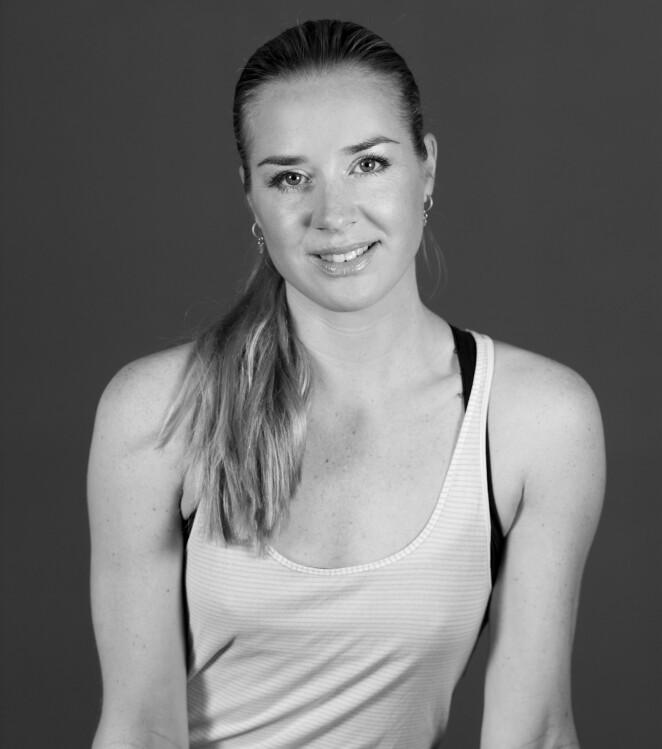 Rikke Schillinger opptatt av at trening på nett skal være enkelt! FOTO: Privat