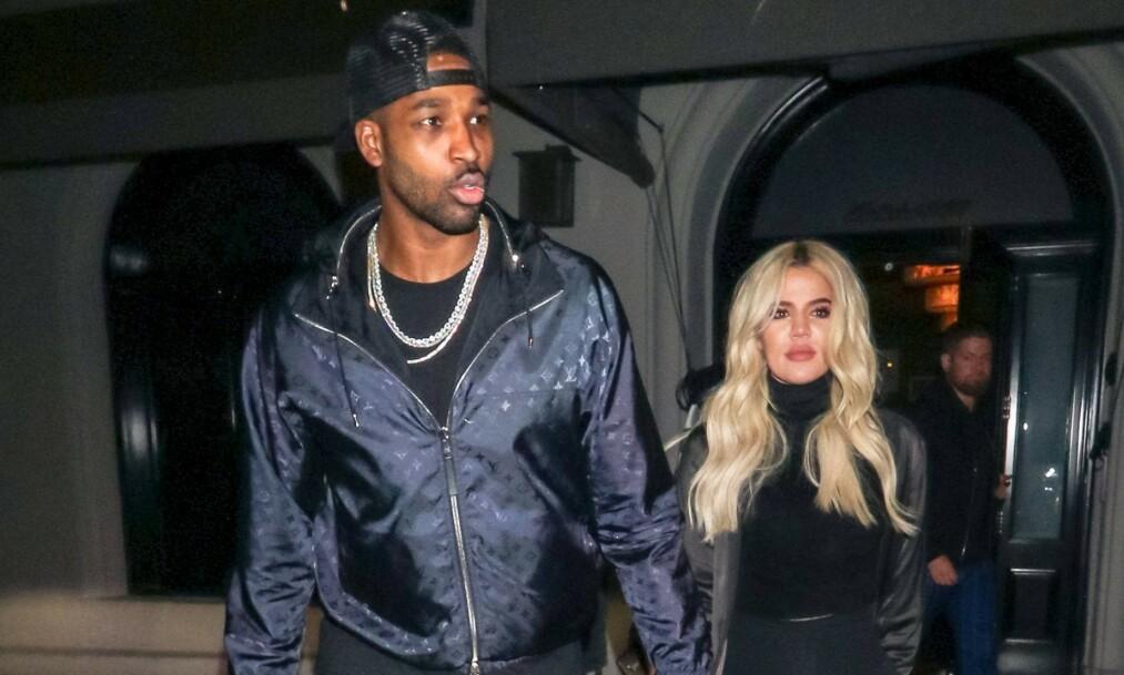 GJENFORENT: Khloé Kardashian og Tristan Thompson er gjenforent for datterens skyld. Foto: NTB scanpix