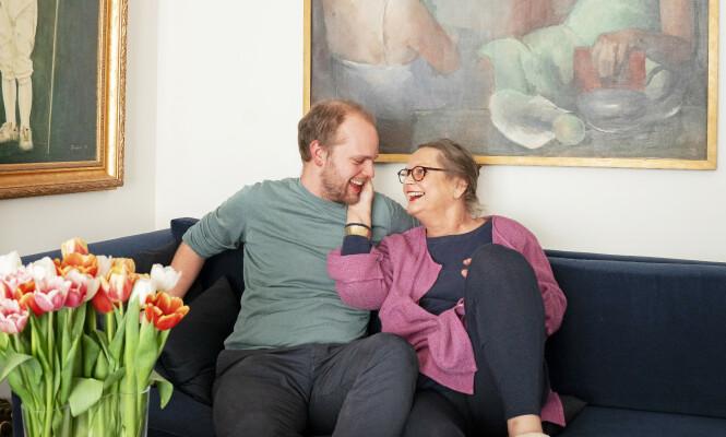 <strong>OPP- OG NEDTURER:</strong> Mor og sønn-forholdet har vært gjennom store prøvelser, men Mímir og mamma Marit er veldig glade i hverandre. Foto: Espen Solli/ Se og Hør