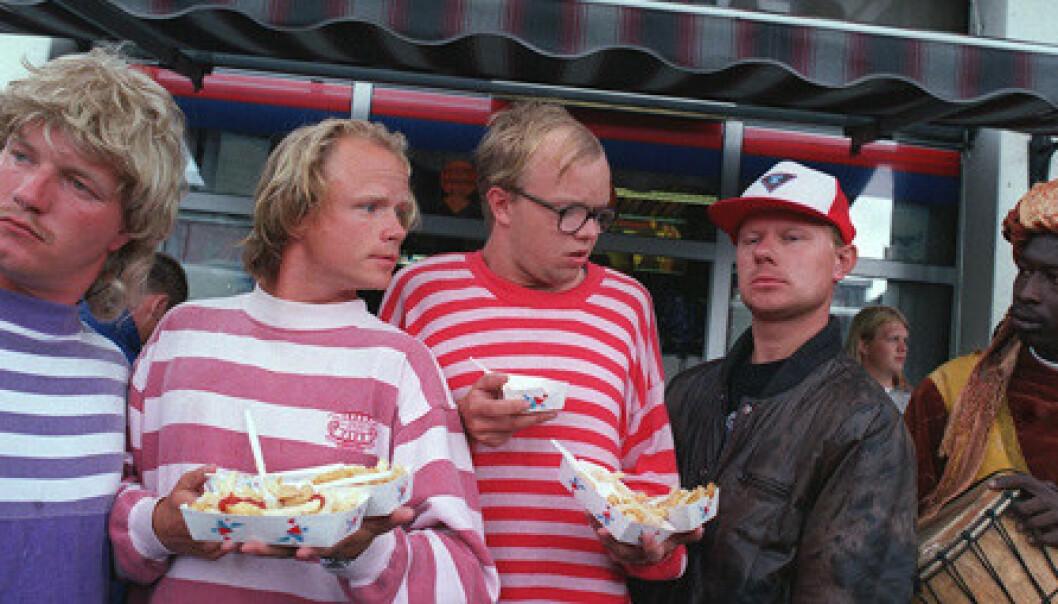 DEBUTEN: Bård Tufte Johansen og Harald Eia startet sin karriere med serien Lille Lørdag på NRK. Foto: NRK