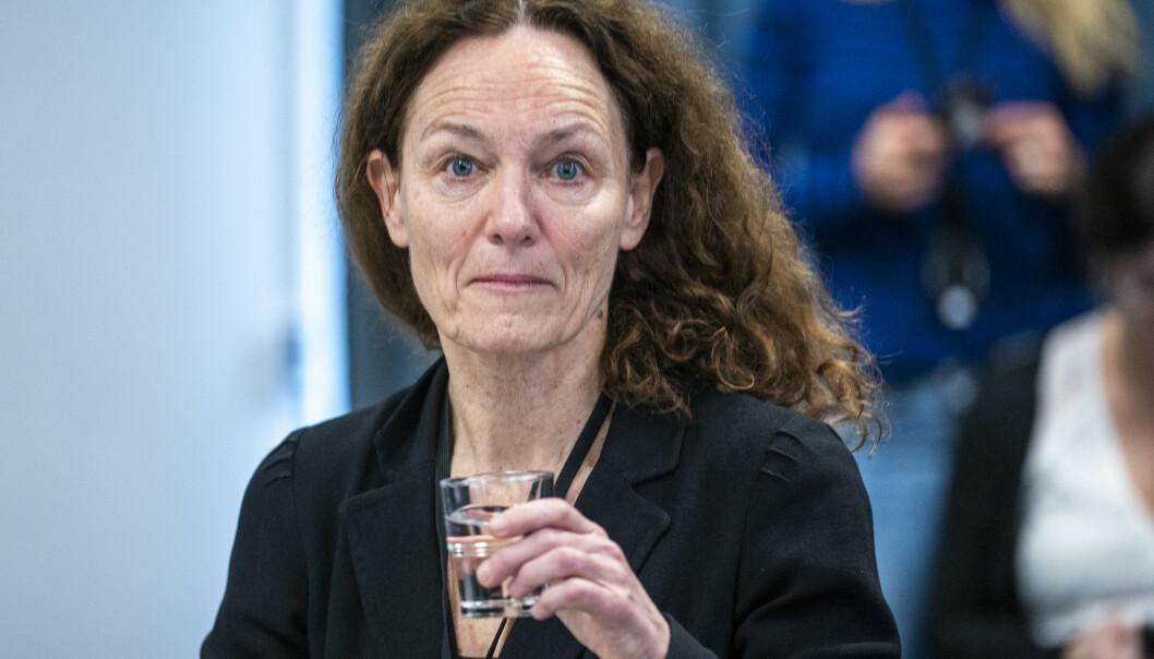 Folkehelseinstituttets direktør Camilla Stoltenberg presenterte denne uka en ny risikovurdering knyttet til spredningen av coronaviruset. Foto: Heiko Junge / NTB scanpix