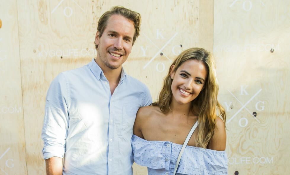 USIKRE: Programleder Samantha Skogrand og forloveden Emil Hegle Svendsen er blant dem som har blitt nødt til å ta stilling til hva de skal gjøre med sitt kommende bryllup. Foto: Vegard Wivestad Grøtt / NTB scanpix