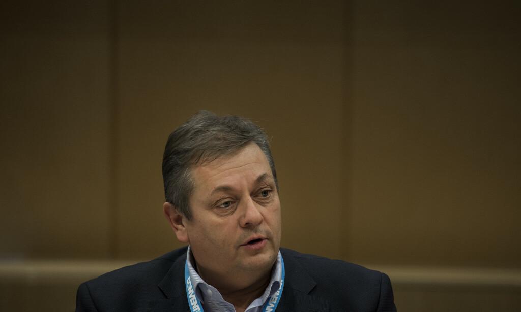ENORM PÅGANG: Nito-president Trond Markussen forteller om en enorm pågang fra organisasjonens medlemmer som følge av coronapandemien. Foto: Carina Johansen / NTB scanpix