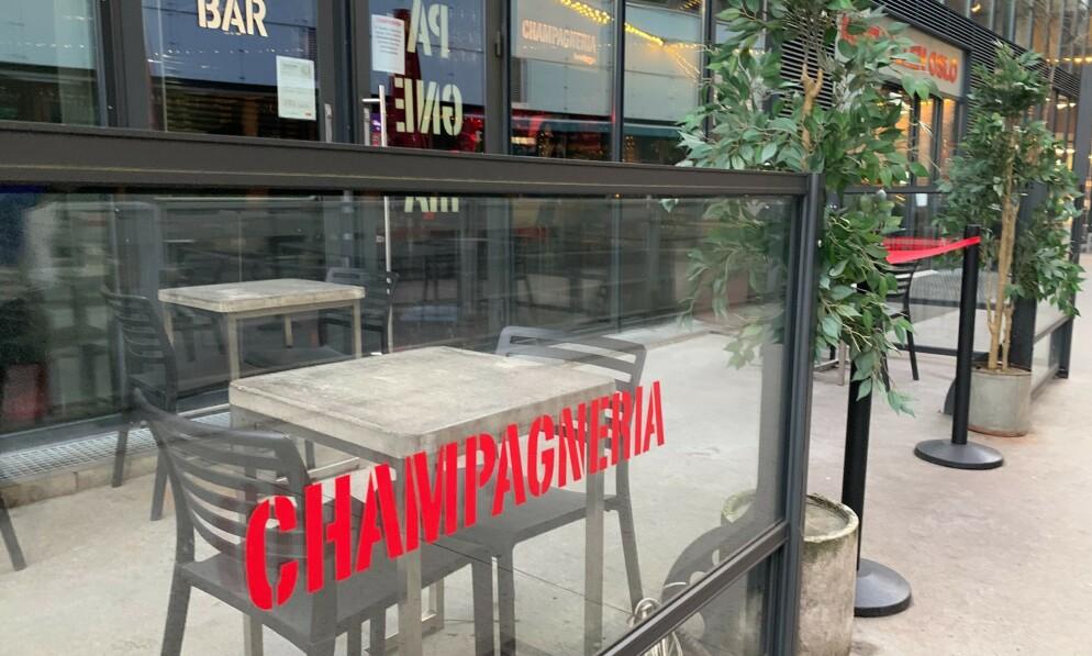 KONKURS: Champagneria Bodega i Mathallen i Oslo er konkurs. Situasjonen er krevende på Frogner. Foto: Nicolai Eriksen / Børsen