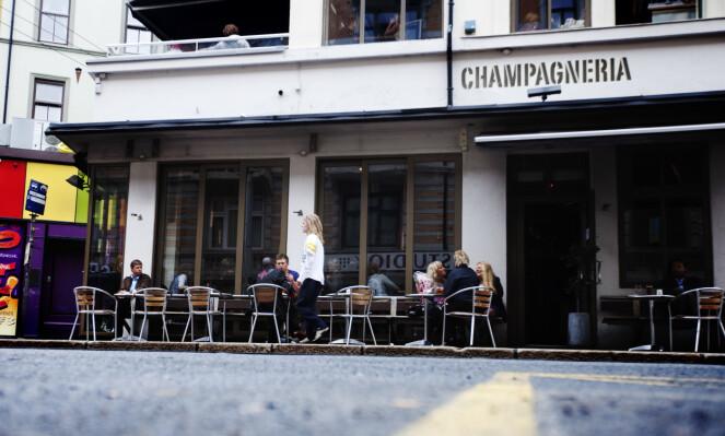 FORTSETTER: Utestedet Champagneria som ligger i Frognerveien 2 fortsetter etter planen som før, ifølge Ellingsen.  Foto: Kyrre Lien / NTB Scanpix.