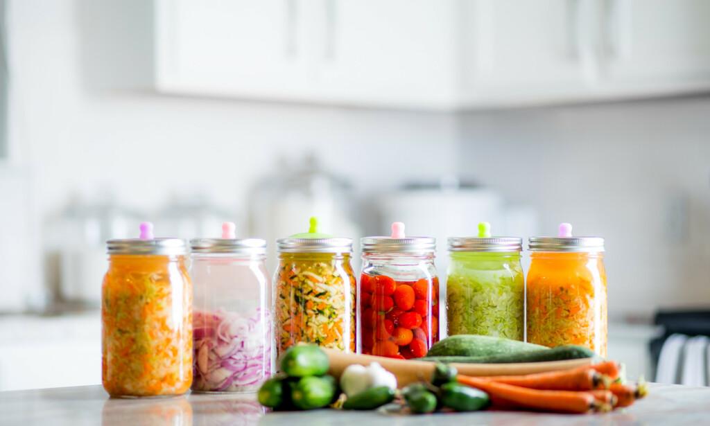 FERMENTERING av ulike grønnsaker. Foto: NTB Scanpix / Shutterstock