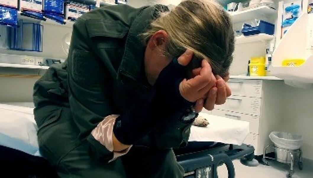 <strong>SKADET:</strong> Benedicte Izabell Ekeland måtte på sykehus som følge av skaden. Foto: TV 2