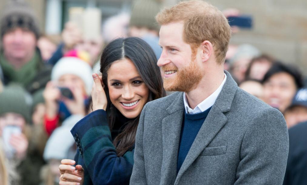 <strong>PLANLEGGER BARN?:</strong> Hertuginne Meghan og prins Harry er angivelig klare for å gi sønnen Archie et søsken. Foto: NTB Scanpix