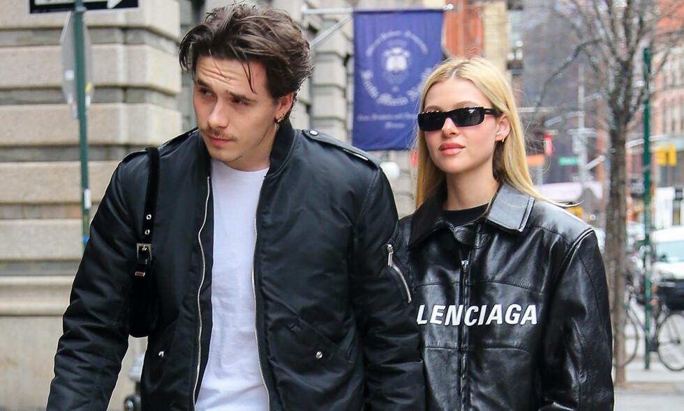 BLIR SAMBOERE: Siden Brooklyn Beckham bekreftet forholdet til Nicola Peltz har det gått fort i svingene for de to turtelduene. Foto: NTB Scanpix