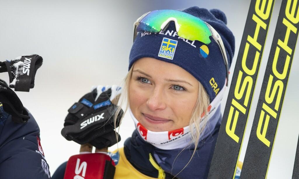 IKKE FORNØYD: Den svenske langrennsløperen Frida Karlsson er misfornøyd med sesongen som nettopp var. Foto: Terje Pedersen / NTB scanpix