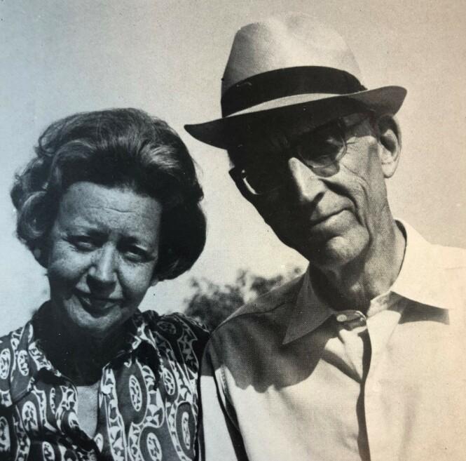GODT EKTESKAP: Gudrun og Johan Georg Ræder fotografert på 70-tallet. FOTO: Privat