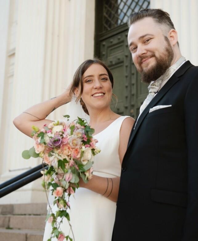 GODE VENNER: Til tross for at det ikke ble noe varig ekteskap mellom Tina Camilla Kikut og Bjørn-Harald Larsen Sønsthagen, er de fremdeles gode venner. Foto: TVNorge